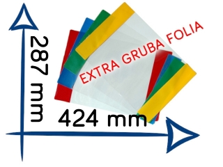 Ok³adki EXTRA gruba foliaOK-17 287x424 mm