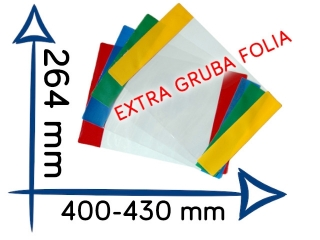 Ok³adki EXTRA gruba folia reg. OR-4 264x400-430 mm