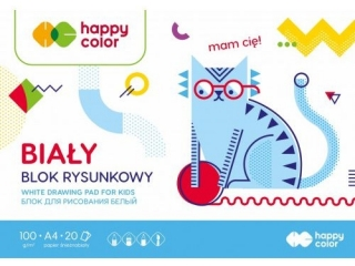 Blok rysunkowy A4 20k. HAPPY COLOR Happy Friends 100g
