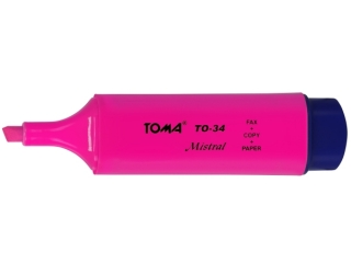 Textmarker TOMA Mistral ró¿owy TO-334