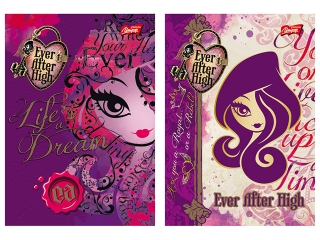 Brulion A6 96k. MAJEWSKI Ever After High krata